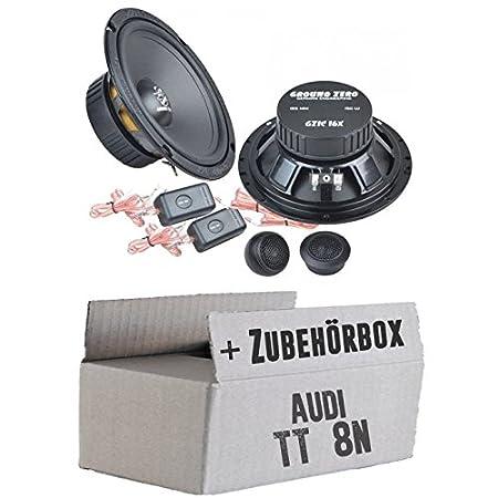 Audi TT 8N-Ground Zero GZIC 16x-16cm-Système de haut-parleur Kit de montage