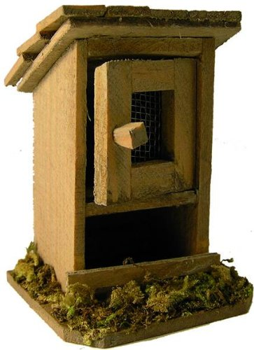 Crib accessories, rabbit hutch small, 1 door, height 7cm
