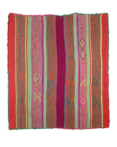 Uptown Down One-of-a-Kind Peruvian Rug, Multi
