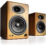 Audioengine A5+ Premium Powered Bookshelf Speakers, A5+N-115V, Bamboo