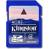 Kingston 4GB SDHC Class 4 Flash Card Kingston Retail SD4 4GBKR