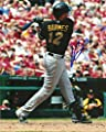 CLINT BARMES PITTSBURGH PIRATES SIGNED AUTOGRAPHED 8x10 PHOTO W/COA SWINGING