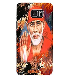 ColourCraft Lord Sai Baba Design Back Case Cover for SAMSUNG GALAXY NOTE 5