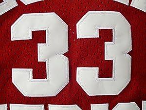 No. 33 Kobe Bryant Troughton Terme Lean best high school basketball jersey mesh fans Edition Claret S
