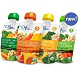 Plum Organics Stage 2 Hearty Veggie Meals Starter Pack Baby Food (each 3.5 oz) (4 FLAVORS Pack)