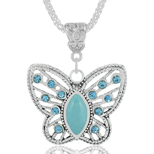 Collar de Plata con Colgante de Mariposa