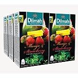 Dilmah, Fun Tea, Single Origin Pure Ceylon, Mango & Strawberry, 20 Count String & Tag, (Pack of 6)