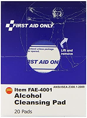 First Aid Only Alcohol Cleansing Pads, 20 Count by First Aid Only