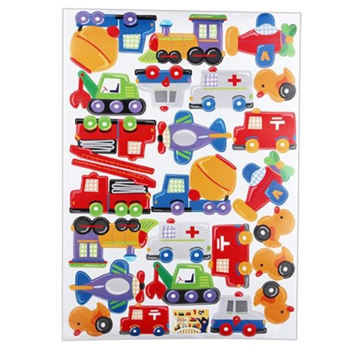 Wall Sticker Decal Art Mural Room Pvc Removable Train Team Colorful Kids front-599443