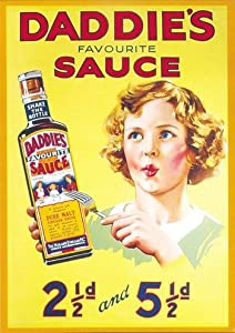 DADDIES SAUCE Metal Enamel Advertising Sign by CambSigns