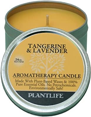 Best Cheap Deal for Tangerine & Lavender Aromatherapy Candle- Made with 100% pure essential oils - 3oz tin by Plantlife - Free 2 Day Shipping Available
