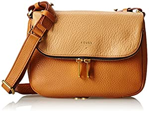 Fossil Preston CB SM Cross Body Bag,Camel,One Size