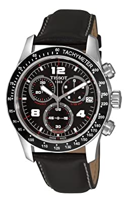 Tissot Men's T0394171605700 V8 Black Chronograph Dial Watch