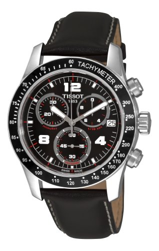 Tissot V8 Chronograph Leather Mens Watch T0394171605700