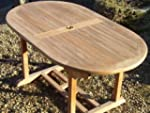 Acle - Solid Teak 1.6m / 5.2ft Oval P...