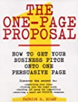 The One-Page Proposal: How to Get You...