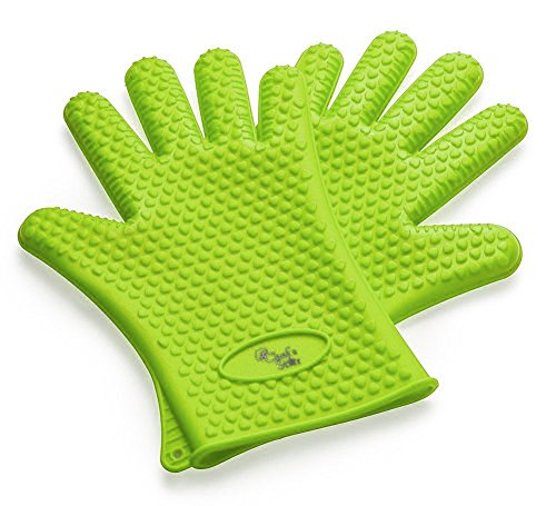 Chef's Star Cooking Gloves Germ & Heat Resistant, Sure Grip Silicone, BBQ Safe, Waterproof, Dishwasher Safe (Lime) (Insulated Cover For Smoker compare prices)