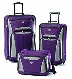 American Tourister Luggage Fieldbrook II 3 Piece Set, Purple/Grey, One Size