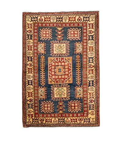 Rugsense tapijt Kazak rood / blauw / natuurlijke witte