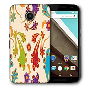 Snoogg Colorful Layered Flowers Printed Protective Phone Back Case Cover For LG Google Nexus 6