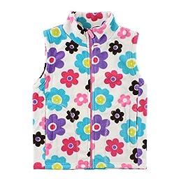 Bnspl Unisex kids\' Casual Fashion Fit Color Fleece Vest