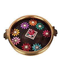Suman Creations Foam Floating Square and round flowers Showpiece (0.5X16.51X12.7, Red)