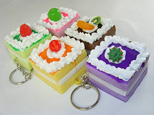 Kawaii Squishy Square Cake (Includes 1; styles vary)