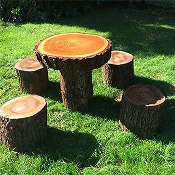 Rustico in legno massello per bambini Woodland set tavolo e sgabelli