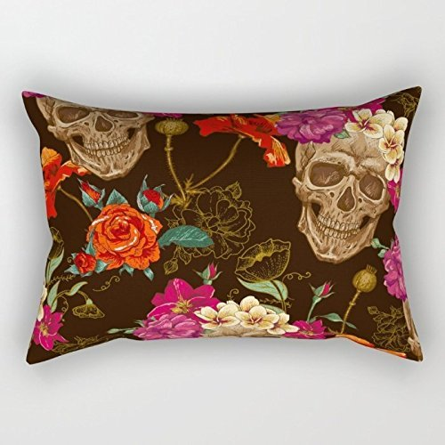 Throw Cushion Covers 18 X 26 Inches / 45 By 65 Cm(both Sides) Nice Choice For Living Room,bench,wife,boys,teens,home Theater Skull (Gold Emblem Gummy Bears compare prices)