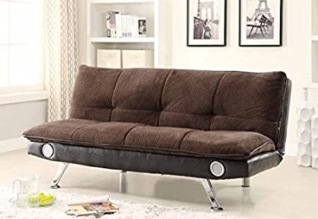 Sofa Bed in Dark Brown Finish by Coaster Furniture