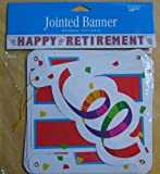 Happy Retirement Jointed Banner - 10 Feet Long