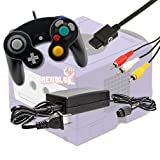 Gamecube Video Game Console Starter Kit by REVOLT Gamer - Black Original Type Wired Gamepad Controller, AC Adapter, and AV Composite Cable