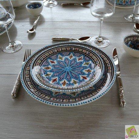 6 assiettes à entrée ou dessert Jileni turquoise - D 20 cm