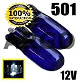 501 XENON WHITE SIDELIGHT INTERIOR NUMBER PLATE BULBS T10 W5W 194 WEDGE FIAT GRANDE PUNTO