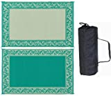 Stylish Camping RD4 Classical Mat Green/Beige Reversible 6 x 9'
