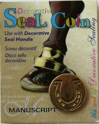 Manuscript Pen 727HRS Decorative Seal Coin, 0.75-Inch, Horseshoe