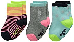 OshKosh BGosh Baby Baby-Girls Newborn 3 Pack Star Socks, Multi-Color, 3-12 Months