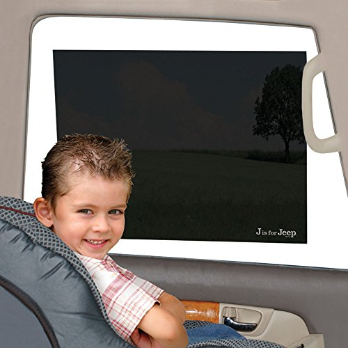 Jeep Car Sun Shade, Static Cling, Pack of 2, Black, Baby Car Seat Window Shade, Toddler Car Tint Film, Universal Fit, UV Protection (Window Tints For Cars compare prices)