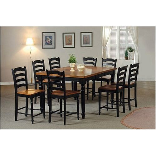 Furniture dining room furniture dining set two tone for 2 tone dining room sets