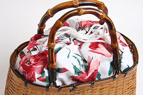 ハセガワ 巾着竹かごバッグ 画像1