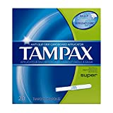 Tampax Cardboard Applicator Tampons, Super Absorbency, 20 Count (Pack of 4) by Tampax - Best Reviews Guide