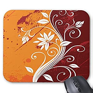 US Abstract Floral Mousepad
