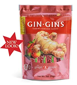 Gin Gins Spicy Apple Chewy Ginger Candy Bag 3 Ounce from The Ginger People®
