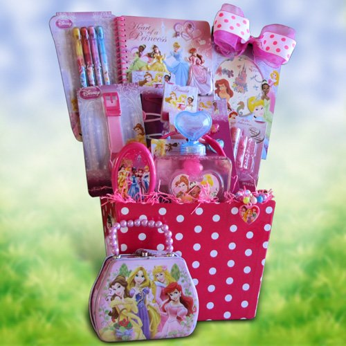Disney Princess Accessory Gift Basket Perfect Birthday Get Well Baskets For Girls Under 10