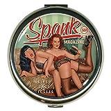 Retro A Go Go! Bettie Page Tm Spank Round Compact