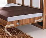 Schrankbett Querbett SMARTBETT Murphy Bed Foldaway Bed Klappbett 140 x200 Horizontal Pflaume Wallis