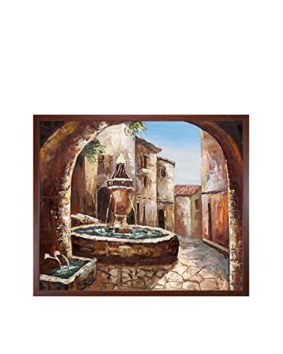 Greek Villa II Framed Oil Painting