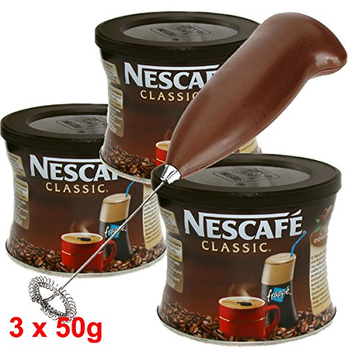 GREEK FRAPPE coffee 3x50 gr NESCAFE Classic & Hand Mixer - Frother (Nescafe Frappe Mixer compare prices)