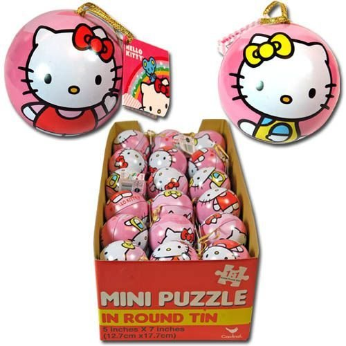 Hello Kitty Mini Puzzle in Round Tin