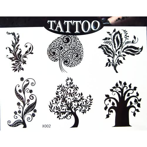 Egood High Quality Temporary Tattoo Waterproof (Buddhism Pipal Bodi
